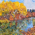 N16037 Autumn Trees & Pond Buffalo Lake 24x30 Jul05 2016