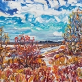 N16078 Sturgeon River Winter 24x30 Oct18 2016