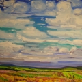 brucethompson-n5012-rolling-prairie-and-sky-near-pouce-coupe-30x40