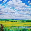 brucethompson-n8034-slough-and-hills-near-smoky-lake-30x40