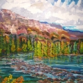 brucethompson-n10027-maligne-river-entering-the-athabasca-30x40