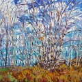 brucethompson-n9032-birches-and-cabin-end-of-graminia-road-24x36
