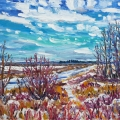 brucethompson-n9035-shore-of-sturgeon-river-above-st-albert-22x28